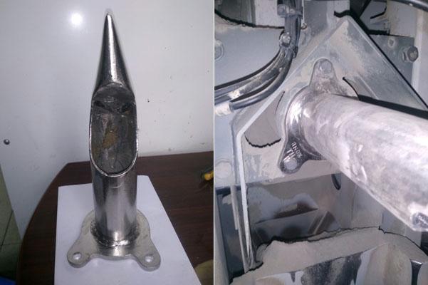 Vòi phun xuất xi cho máy đóng bao